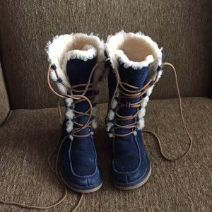 Ugg laced up tall boots